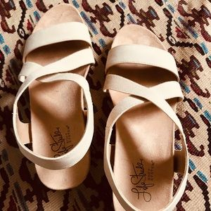 Nude Wedge Sandal - NEW